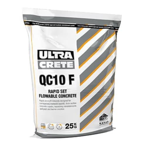 UltraCrete QC10F Rapid Set Flowable Concrete 25kg Grey