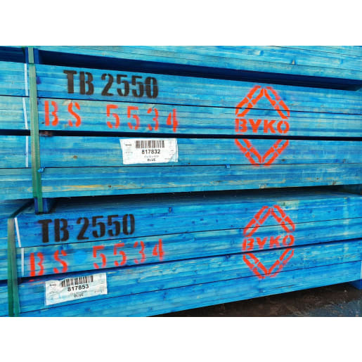 Treated Sawn Roofing Batten 25 x 50mm  BS5534