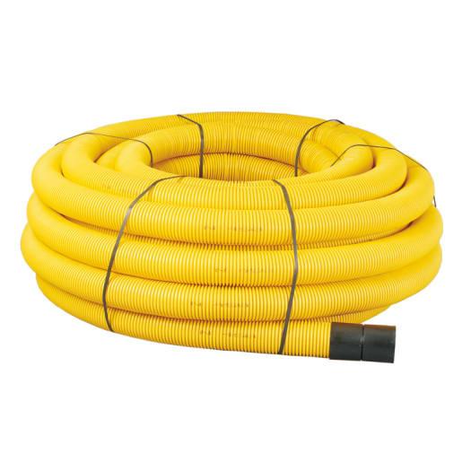 Naylor MetroFlex Twinwall Gas Duct 50m x 94 x 110mm Yellow