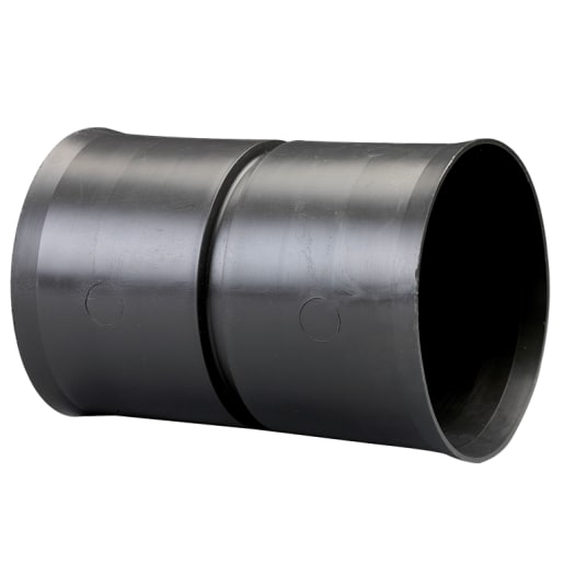 Naylor MetroDuct Twinwall Standard Coupling 178mm Black