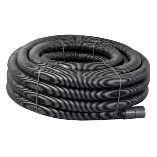 Naylor Agri-Drain Perforated Land Drain Pipe 50m x 160mm Black