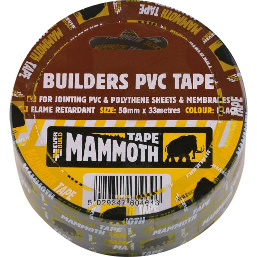 Everbuild Builders PVC Tape 33M x 50mm Black