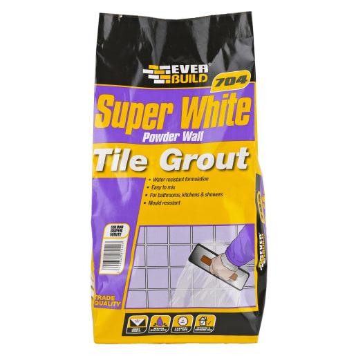 Everbuild 704 Powder Wall Tile Grout White 3kg