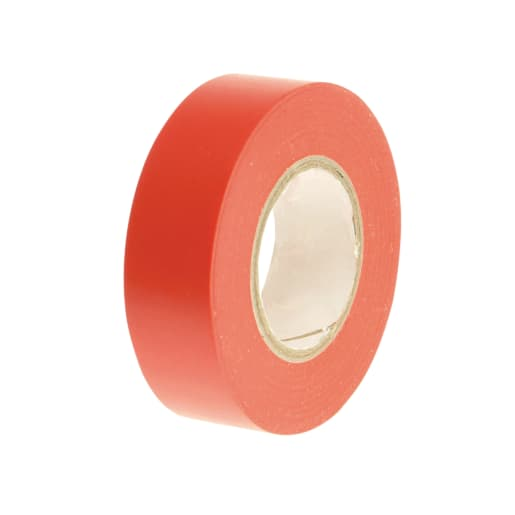 Faithfull PVC Electrical Tape 20m x 19mm Red