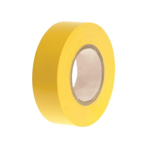 Faithfull PVC Electrical Tape 20m x 19mm Yellow