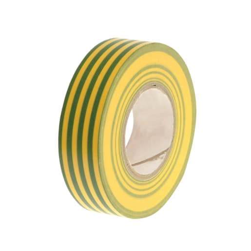 Faithfull PVC Electrical Tape 20m x 19mm Green and Yellow