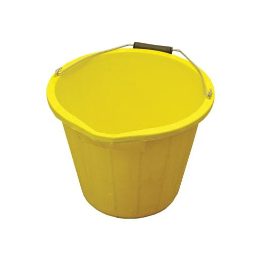 Faithfull Bucket 14L Yellow