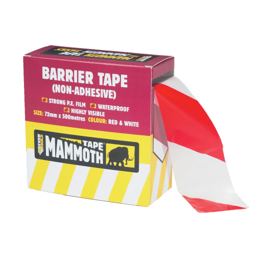 Everbuild Barrier Tape 500M x 72mm Red/White