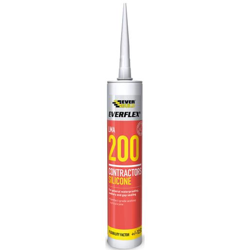 Everbuild Everflex 200 Contractors LMA Silicone 295ml Black