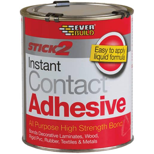 Everbuild Stick 2 All Purpose Contact Adhesive 250ml Beige