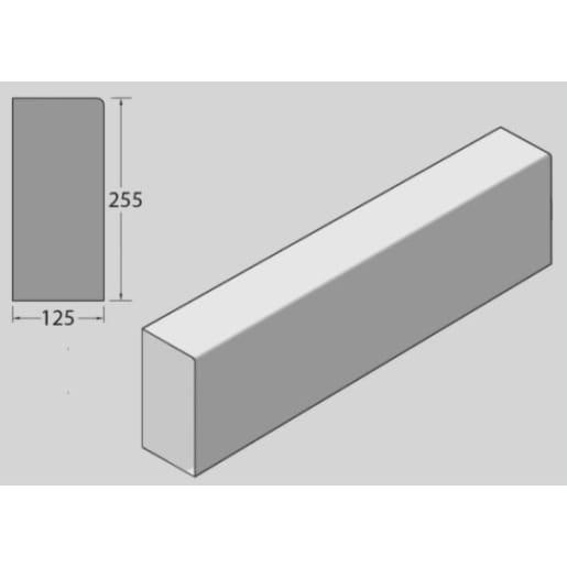 Marshalls Square Kerb Channel 914 x 255 x 125mm