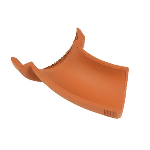 Hepworth 45° Right Hand Clay Channel Bend 100mm Brown
