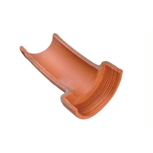Hepworth 15° Left Hand Clay Channel Bend 100mm Brown