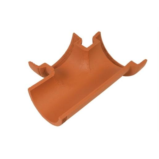 Hepworth 90° Left Hand Channel Junction 150 x 150mm Brown