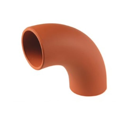 Hepworth SuperSleve 90° Bend Pipe 150mm Brown
