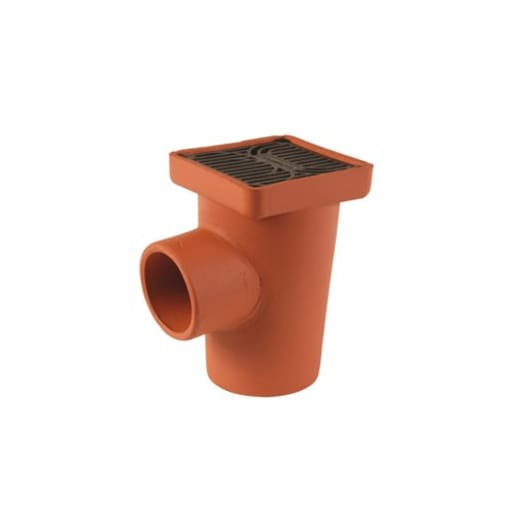 Hepworth SuperSleve HouseDrain Square Gully 100mm Brown