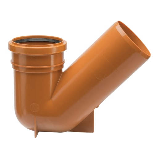 Polypipe Drain Universal Gully Trap 110mm Terracotta