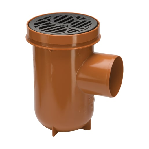 Polypipe Drain Bottle Gully 110mm Brown