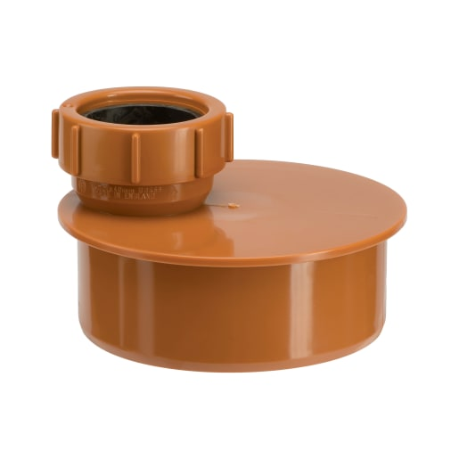Polypipe Drain 110mm Socket to 40mm Single Waste Pipe Adaptor