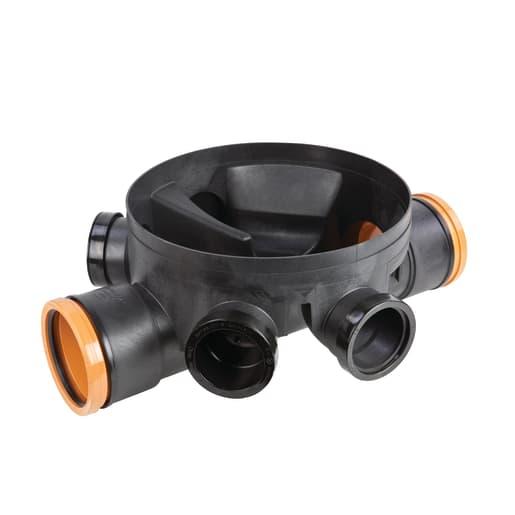 Osma Universal Inspection Chamber Unequal Base 160mm Black
