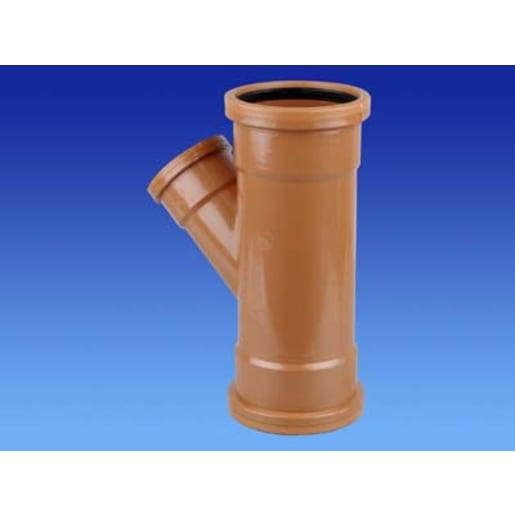 OsmaDrain 87.5° Double Socket Unequal Junction 160mm Brown