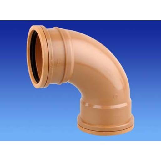 Osma 87.5° Double Socket Bend 75 x 160mm Brown