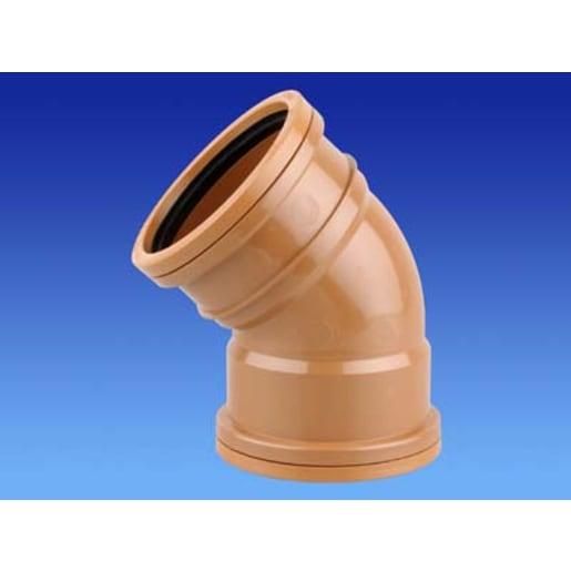 Osma 45° Double Socket Bend 75 x 160mm Brown