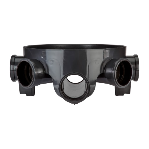 Polypipe Drain Inspection Chamber Base 460mm Black