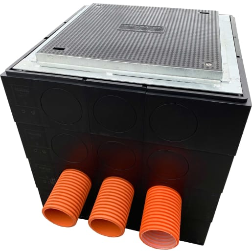ABC EasyPIT Connect B125 Duct Access Chamber 600 x 600 x 150mm