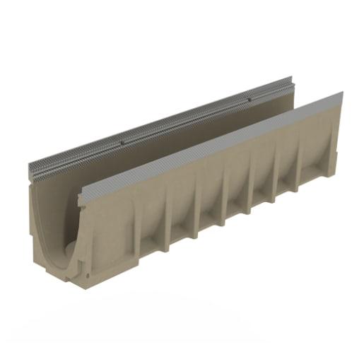 ACO MultiDrain M150D 0.0 Channel Galvanised Rail 1m x 185 x 210mm