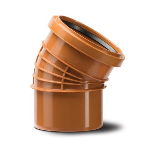 Polypipe Polyrib 30° Single Socket Bend 110mm Terracotta