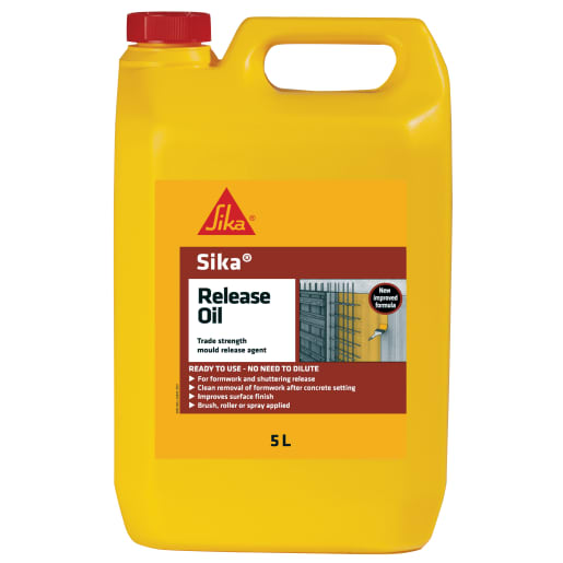 Sika Release Chemical Admixture Oil 5 Litres Clear