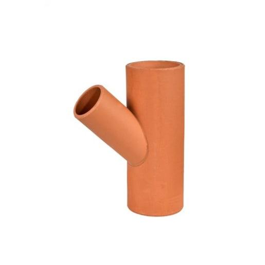 Hepworth SuperSleve 45° Oblique Junction 150 x 150mm Brown